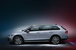 Image Volkswagen Station wagon Grey Metallic Side Golf Alltrack, 2020 Cars