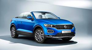 Pictures Volkswagen Cabriolet Blue T-Roc, Cabriolet, 2020 Cars