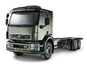 Fotos Volvo Lastkraftwagen Weißer hintergrund  Autos