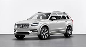 Hintergrundbilder Volvo SUV Silber Farbe XC90, T8, Twin Engine Inscription, 2019 auto