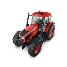 Fotos Traktoren Rot Von oben Weißer hintergrund Zetor Crystal HD 170, 2018