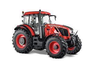 Fotos Traktoren Rot Weißer hintergrund Zetor Crystal HD 170, 2018