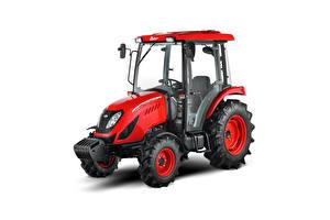 Bakgrundsbilder på skrivbordet Traktor Röd Vit bakgrund Zetor Utilix CL 55, 2019