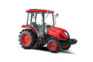 Photo Tractors Red White background Side Zetor Utilix CL 55, 2019