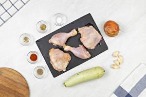 桌面壁纸,,西葫芦,大蒜,葱,香料,雞肉,砧板,