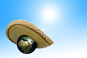 Bakgrundsbilder på skrivbordet Hatt Jorden global warming