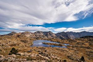 Fotos & Bilder Andorra Gebirge Steine Wolke Pyrenees Natur