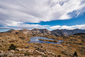 Images Andorra Mountains Stones Clouds Pyrenees