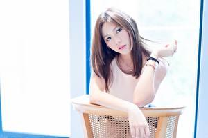 Fonds d'écran Asiatique Bokeh Aux cheveux bruns Voir Main Filles