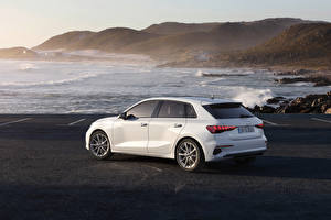 Pictures Audi Coast White Metallic A3 Sportback 30 g-tron, 2020 automobile