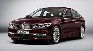 Image BMW Maroon Gray background Liftback, 630d, xDrive, Gran Turismo, Luxury Line, 2017 Cars