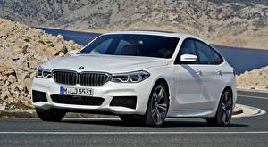 Wallpapers BMW Asphalt White Liftback, 640i, xDrive, Gran Turismo, M Sport, 2017 automobile