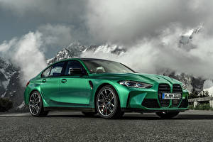 Photo BMW Green Metallic M3 Competition, (G80), 2020 auto