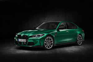 Images BMW Green Metallic M3 Competition, (G80), 2020 Cars