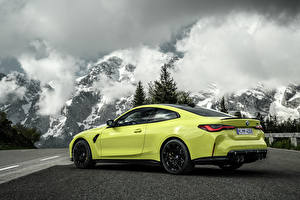 Wallpapers BMW Mountain Coupe Metallic Clouds M4 Competition, (G82), 2020 auto Nature