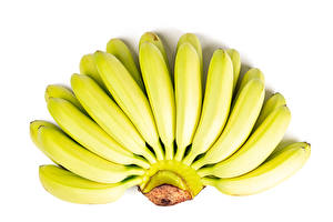 Desktop wallpapers Bananas Closeup White background Food