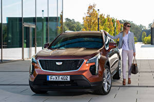 Wallpaper Cadillac CUV Front Metallic XT4 350D, Launch Edition Sport, 2020 automobile Girls