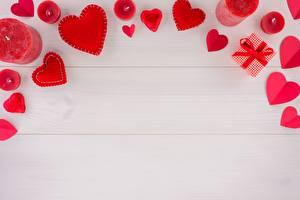 Bilder Kerzen Valentinstag Herz Vorlage Grußkarte Bretter