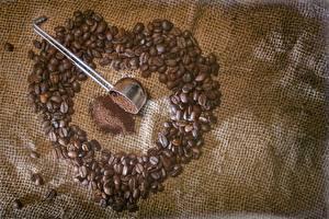 Wallpapers Coffee Closeup Grain Heart Food