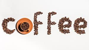 Picture Coffee Grain Cup Gray background Food