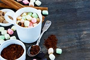 Fotos & Bilder Kaffee Marshmallow Becher Löffel Lebensmittel