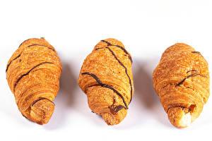 Bakgrunnsbilder Croissant Hvit bakgrunn Tre 3