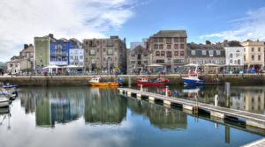 Fotos & Bilder England Haus Flusse Schiffsanleger Binnenschiff Barbican Städte