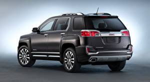 Images GMC Crossover Black Gray background Terrain, Denali, 2015 Cars