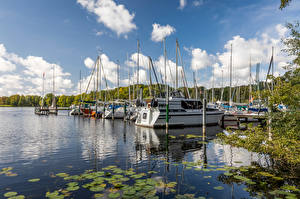 Fonds d'écran Allemagne Berlin Lac Yacht Ciel Nuage Tegeler See