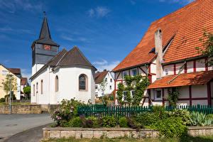 Fotos & Bilder Deutschland Kirche Uhr Haus Turm Straße Lamerden Städte