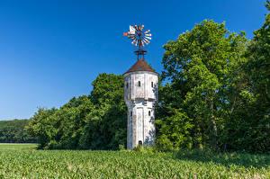Fotos & Bilder Deutschland Felder Bäume Turm Northrhine-Westphalia Natur