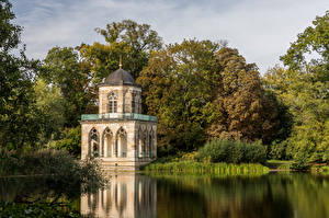 Wallpaper Germany Potsdam Lake Trees Library Gotische Bibliothek Cities