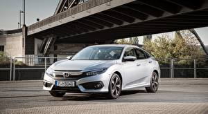 Picture Honda Gray Sedan Civic Sedan, 2017