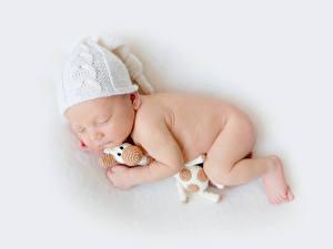 Photo Infants Winter hat Sleep