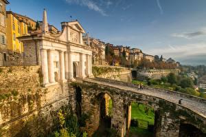 Papel de Parede Desktop Itália Pontes Alta Citta, Bergamo, Lombardy