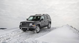 Pictures Jeep Winter Snow SUV Gray Patriot Latitude, 2015 Cars