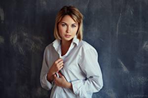 Fotos Hand Hemd Starren Kristina, Evgeniy Bulatov junge frau