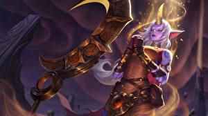 Bureaubladachtergronden League of Legends Soraka Computerspellen Fantasy Jonge_vrouwen