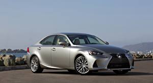 Wallpaper Lexus Silver color Sedan IS 200t, US-spec, 2016 Cars