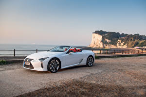 Image Lexus Convertible White Metallic LC 500 Convertible, UK-spec, 2020 automobile