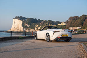Pictures Lexus Convertible White Metallic Back view LC 500 Convertible, UK-spec, 2020
