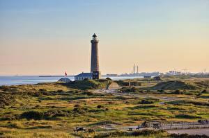 Wallpapers Lighthouses Denmark Skagen, Cape Grenen Cities