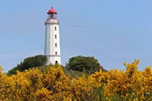 Fonds d'écran Phares Allemagne Colline Hiddensee, Dornbusch Lighthouse Nature