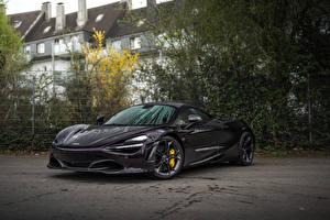 Bakgrundsbilder på skrivbordet McLaren Svart Metallisk 2018-20 Manhart McLaren 720S