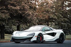 Fondos de escritorio McLaren Blanco 2020 600LT Spider autos