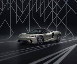 デスクトップの壁紙、、マクラーレン、灰色、2020 GT by MSO、自動車