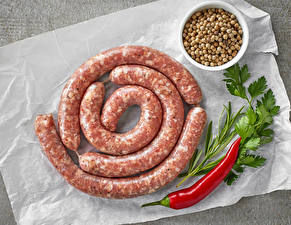 Images Meat products Sausage Chili pepper Grain