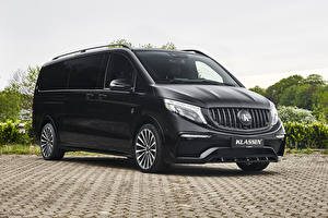 Fotos & Bilder Mercedes-Benz Ein Van Schwarz 2020 Klassen V-Klasse Lang Autos