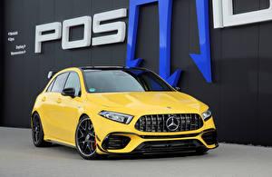 Bilder Mercedes-Benz Gelb Metallisch 2020 Posaidon A 45 RS 525 Autos