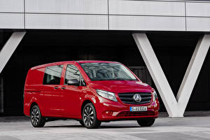 Pictures Mercedes-Benz Minivan Red Metallic 2020 Vito Mixto Worldwide